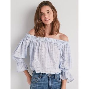 LUCKY BRAND | Eyelet Off the Shoulder Top